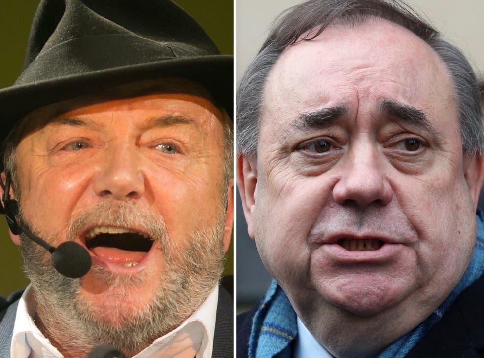 George Galloway and Alex Salmond