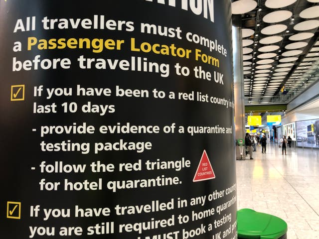 Tricky times: a UK border force sign at Heathrow Terminal 5