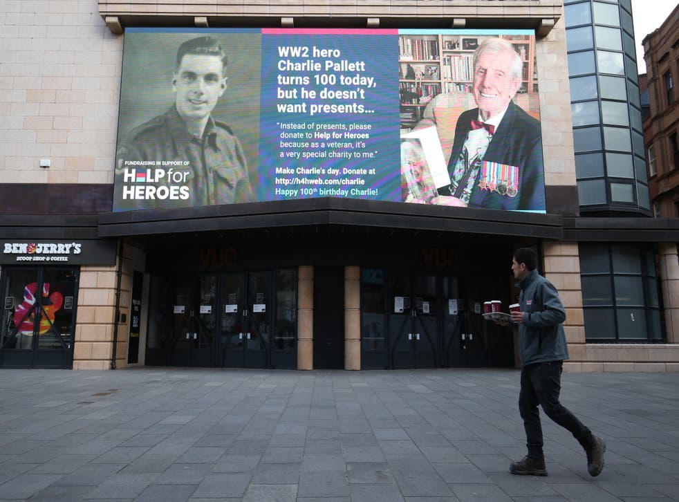 The birthday billboard for Charlie Pallett in Leicester Square