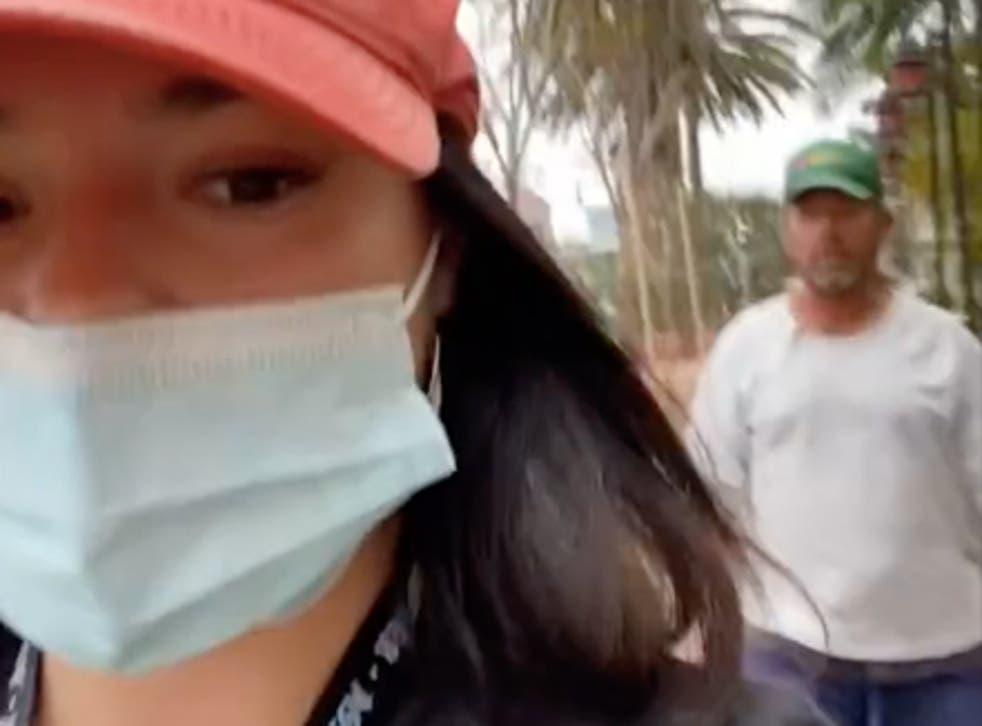 TikTok influencer films man refusing to leave her alone