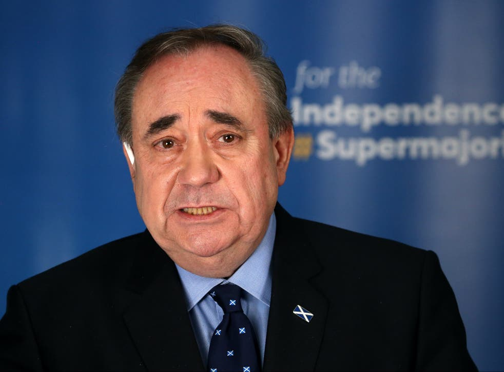<p>Alex Salmond launching Alba's independence plan</p>