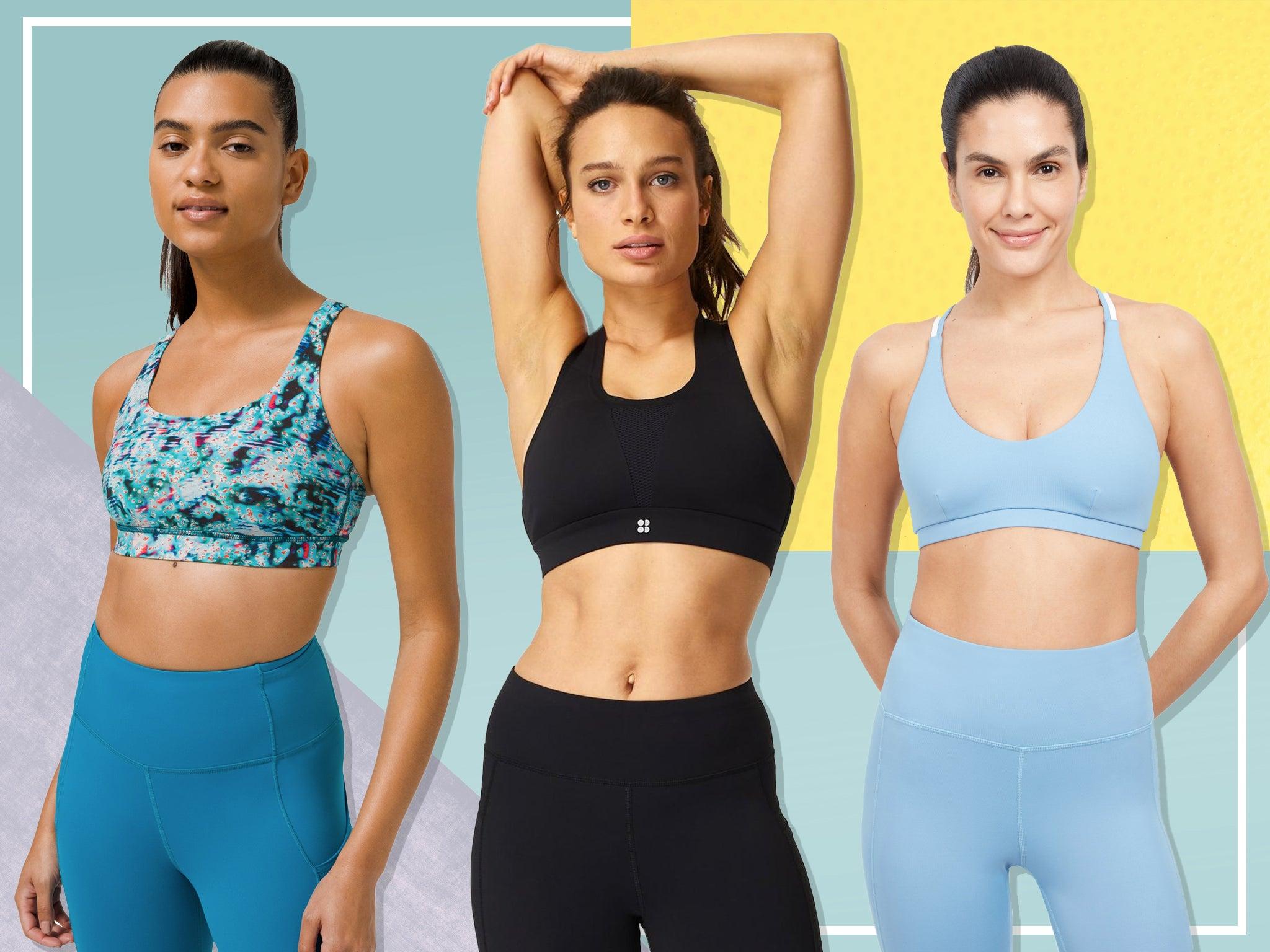 Ladies Stylish Stretchy Athletic Yoga Crop Top Tee Activewear Sportswear Eco Bralette Work out Bra Yoga Bra