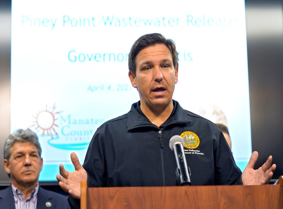 <p>Florida Gov. Ron DeSantis during a news conference earlier this month.</p>