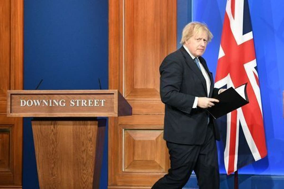 Image Boris Johnson 'told lies' and 'broke fairness rules' at Covid press conference, Labour claims