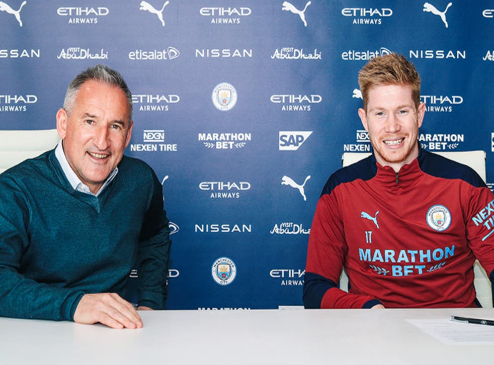 Manchester City midfielder Kevin De Bruyne signs new contract