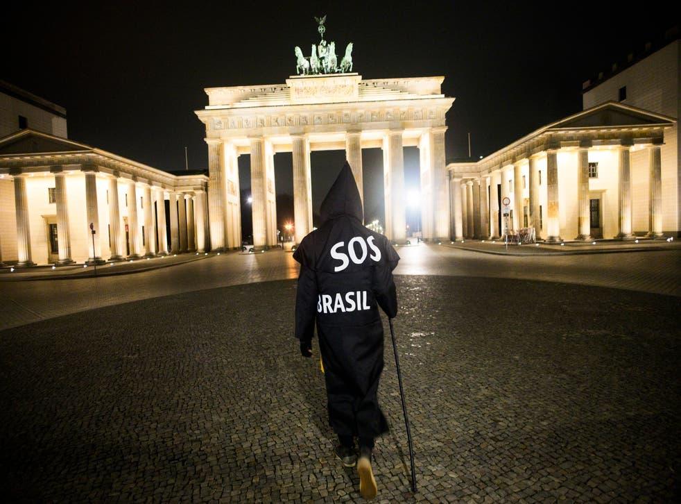 Virus Outbreak Germany Brazilian Activist