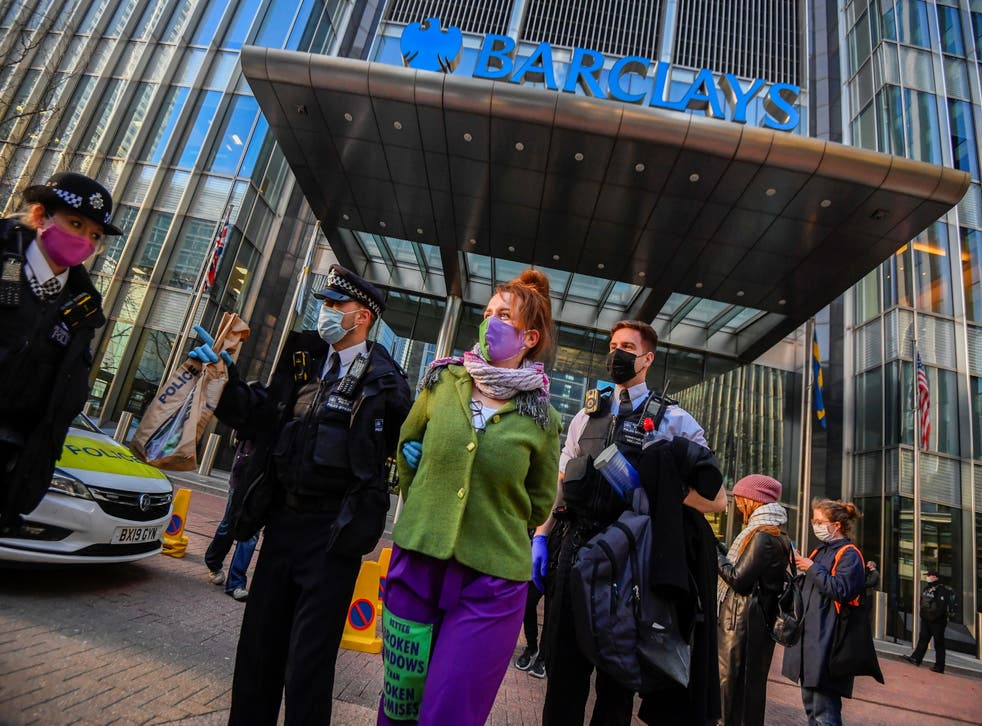 <p>Extinction Rebellion protesters have targeted Barclays bank for funding  fossil fuel companies</p>
