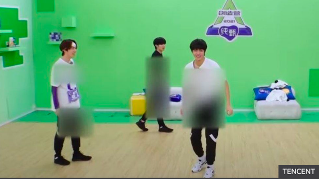 <p>Chinese TV blurred out dancers of the show Chuang 2021, among many other shows, to show support for the Xinjiang Cotton Campaign</p>
