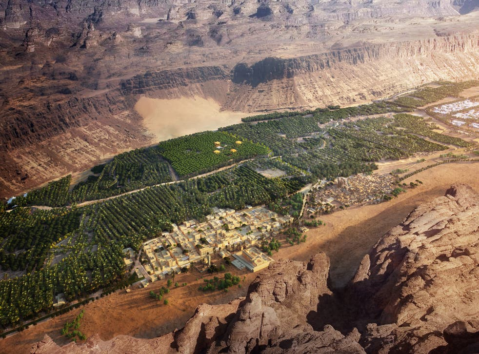 <p>AlUla Old Town is being preserved through the conservation efforts</p>