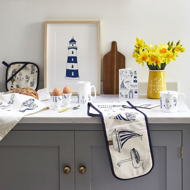 Items from the Nautical Seaside Collection, from Victoria Eggs