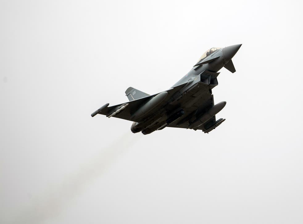 <p>Typhoon FGR4s were used to conduct the air strike, with Storm Shadow missiles being used for the first time in two years</p>