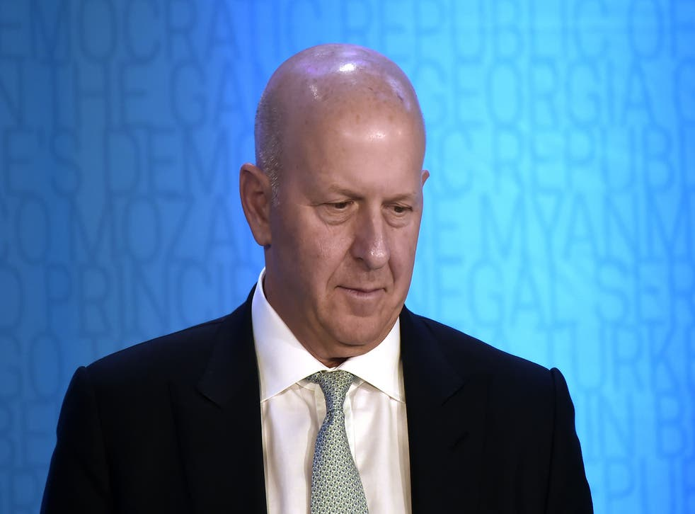 <p>David Solomon, the chair and chief executive of Goldman Sachs</p>