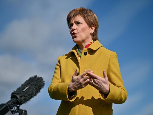 <p>Nicola Sturgeon is backing companies that want to implement a four-day week</p>