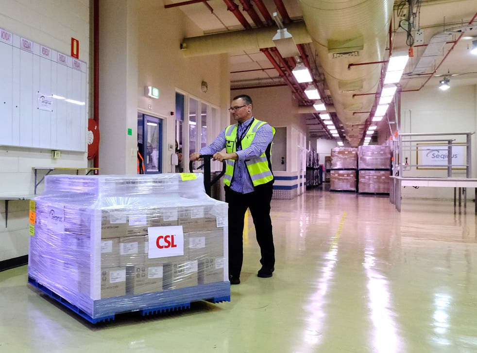 <p>It was reported that the shipments from the UK arrived after the EU introduced curbs on vaccine exports</p>