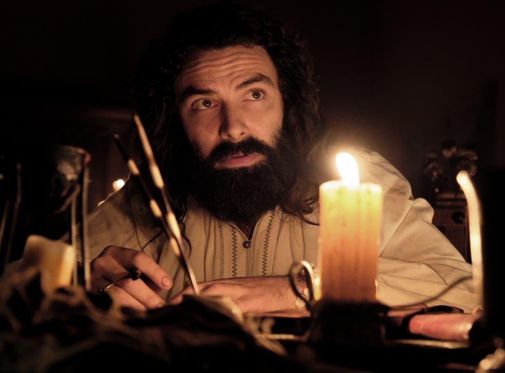Aiden Turner as Da Vinci in Leonardo