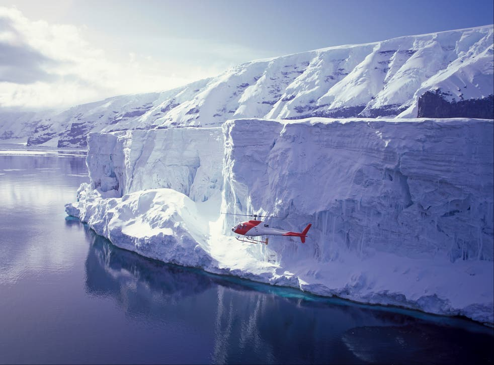 <p>The ice shelves around Antarctica are an essential barrier, holding huge volumes of ice on the continent</p>