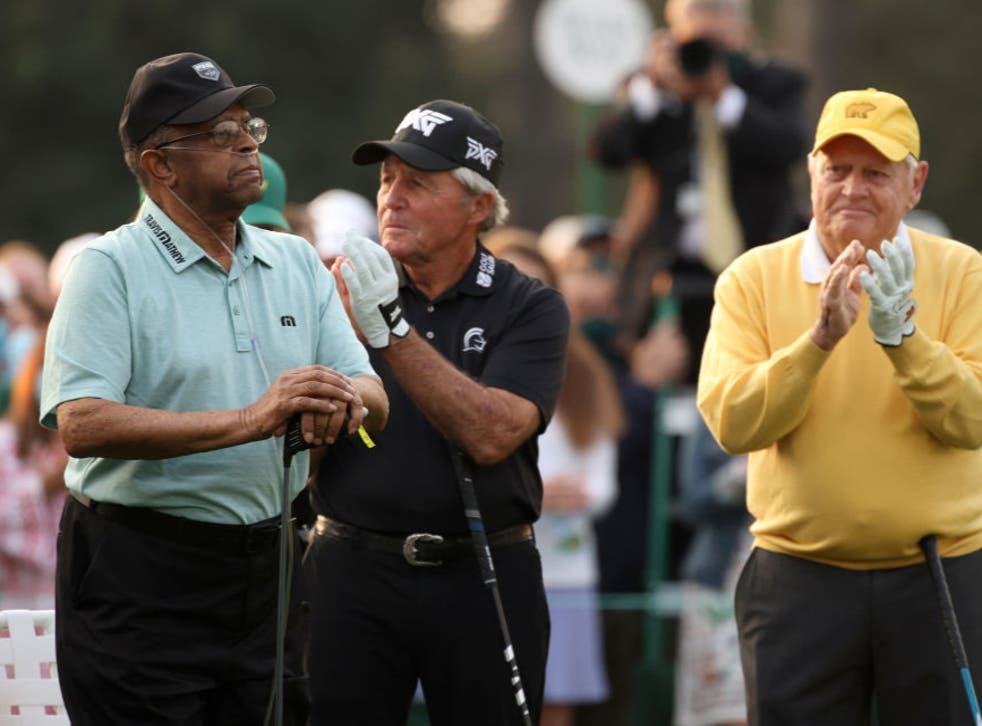 Honorary starters Lee Elder, Gary Player and Jack Nicklaus