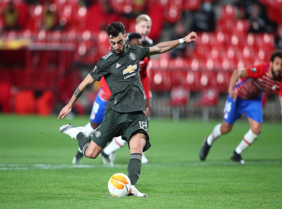 Bruno Fernandes strikes from the spot