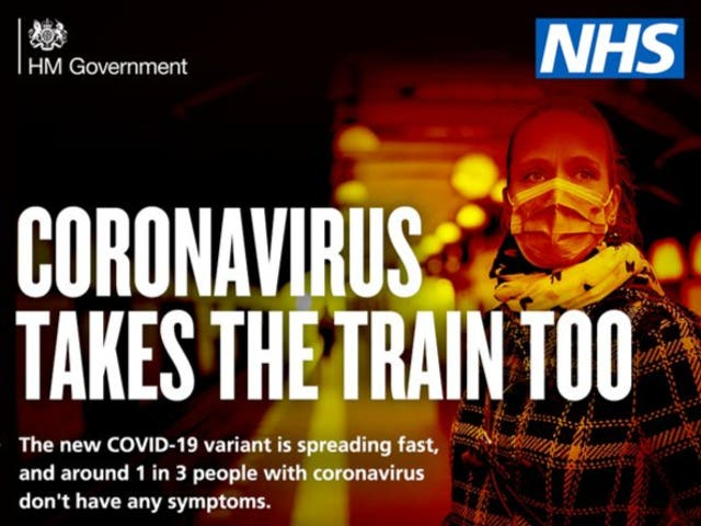 Dire warning: a government advertisement urging people to stay away from the railway