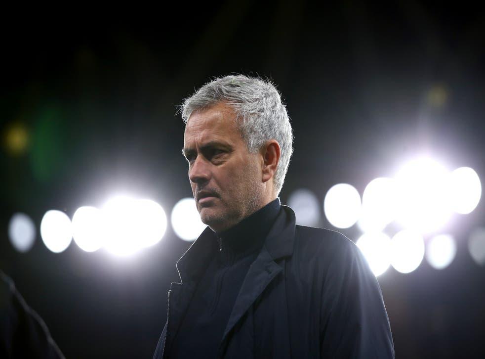 Jose Mourinho is under pressure at Tottenham
