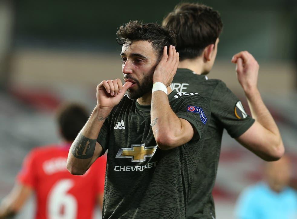Manchester United penalty taker Bruno Fernandes