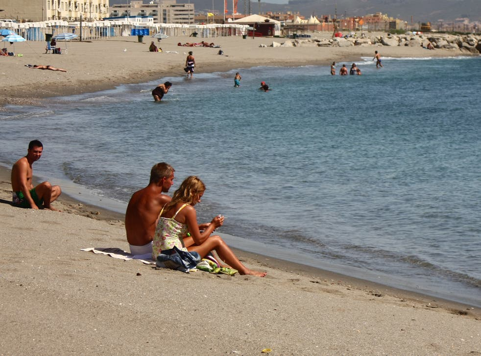 Departing soon? Sunbathers in Gibraltar, one of the countries likely to be on the 'green' list