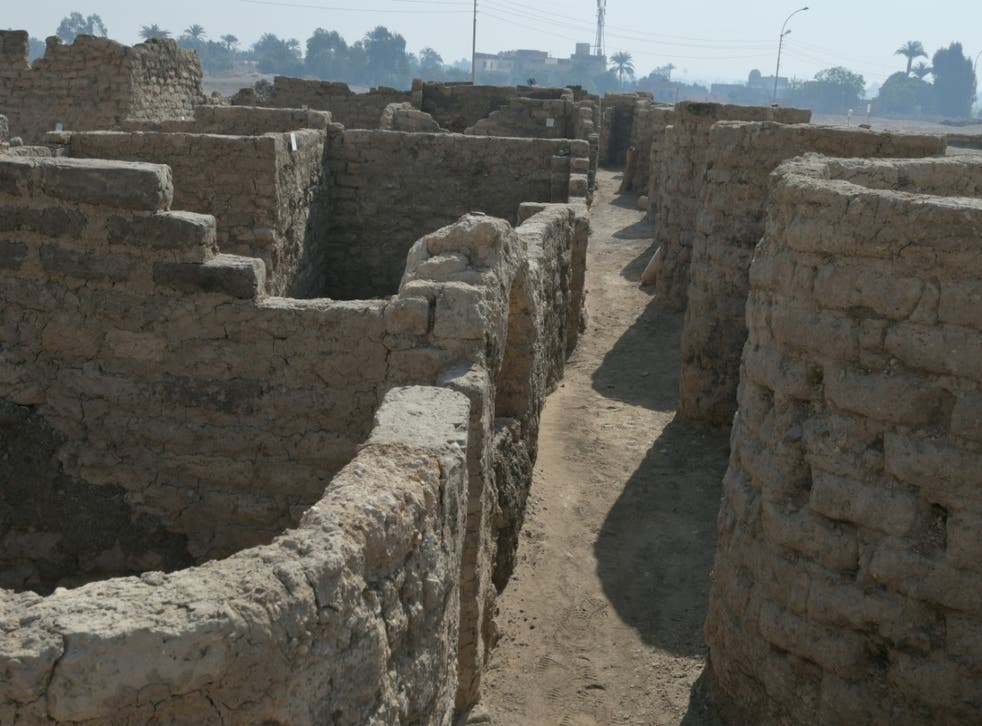 <p>A new archaeological discovery in Luxor, Egypt, is believed to be a 3,000-year-old city </p>