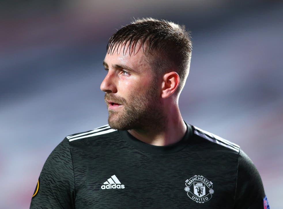 Manchester United and England left-back Luke Shaw
