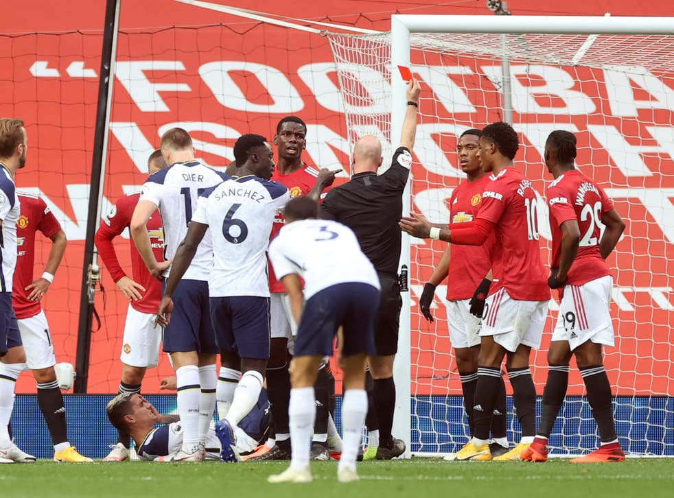 Anthony Martial saw red against Tottenham earlier this season