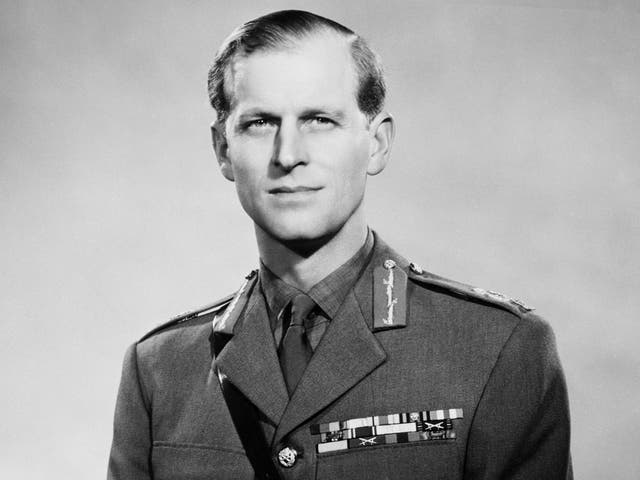 <p>The Duke of Edinburgh in his uniform as a field marshall in the British army, a promotion he received in March 1953</p>