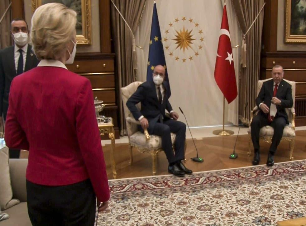 <p>Mario Draghi accused Erdogan of humiliating Ursula von der Leyen</p>