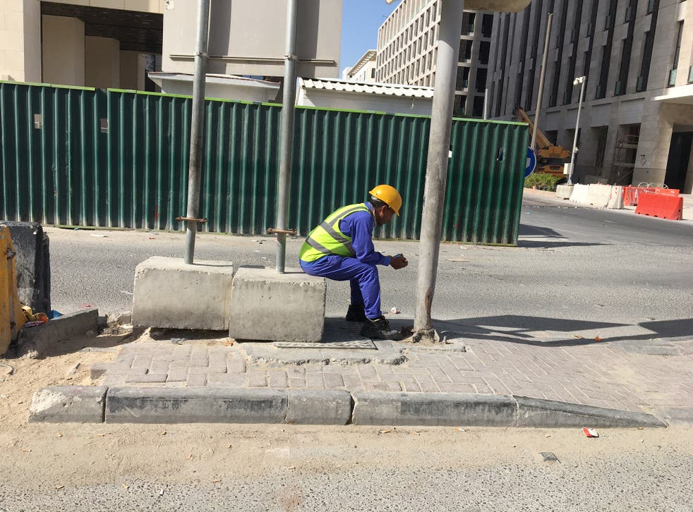 <p>The treatment of migrant workers in Qatar building stadiums for the 2022 World Cup has raised serious human rights concerns </p>