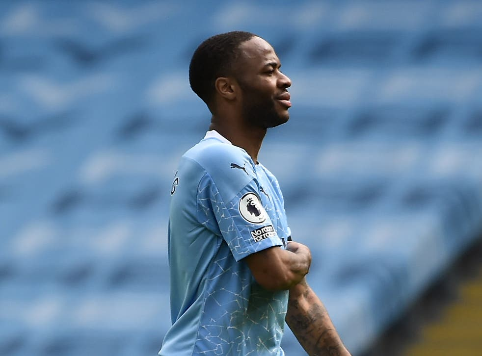 Raheem Sterling during Manchester City's loss to Leeds