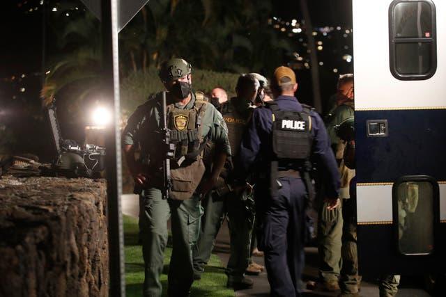 Armed Barricaded Man Hotel