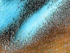 La NASA comparte imagen asombrosa de las dunas azules en Marte