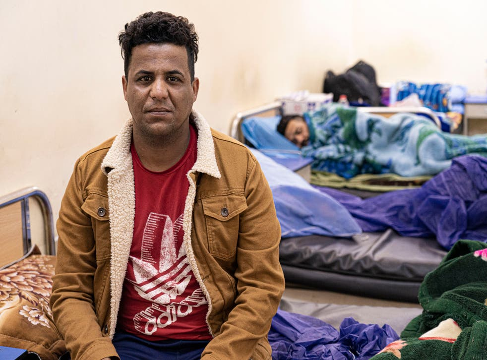 <p>Ahmed, a young crystal meth addict recovering in a Baghdad hospital</p>