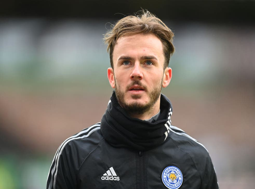 <p>James Maddison was one of three Leicester players left out against West Ham</p>