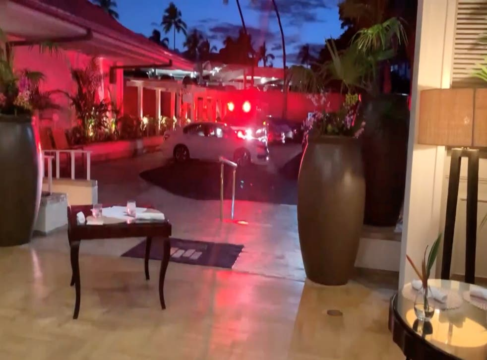 <p>A screenshot of a video posted on Twitter by Elizabeth Ferraro from inside the Kahala Resort & Hotel in Honolulu which went into a ten-hour lockdown on Saturday after a gunman opened fire on staff</p>