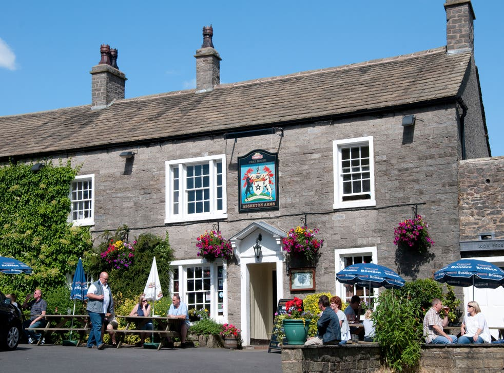The Assheton Arms in the village of Downham
