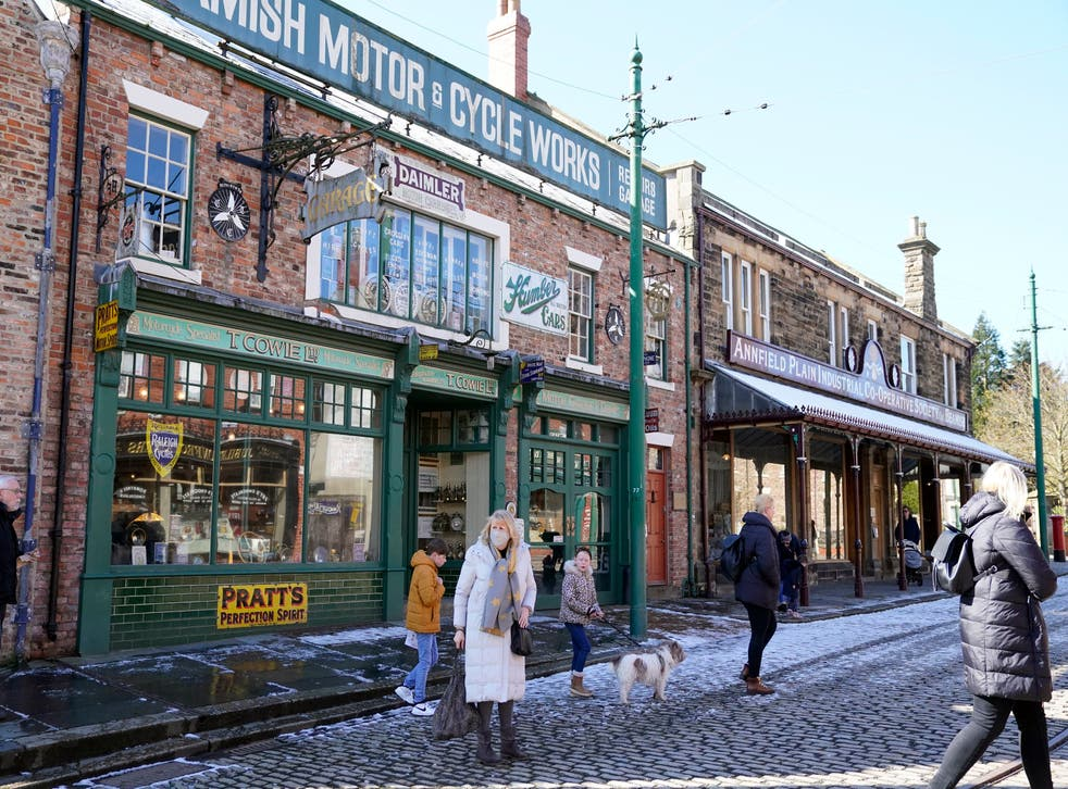 People at Beamish Museum near Stanley, Co Durham, the open-air museum after it reopened to visitors following the further easing of lockdown restrictions in England