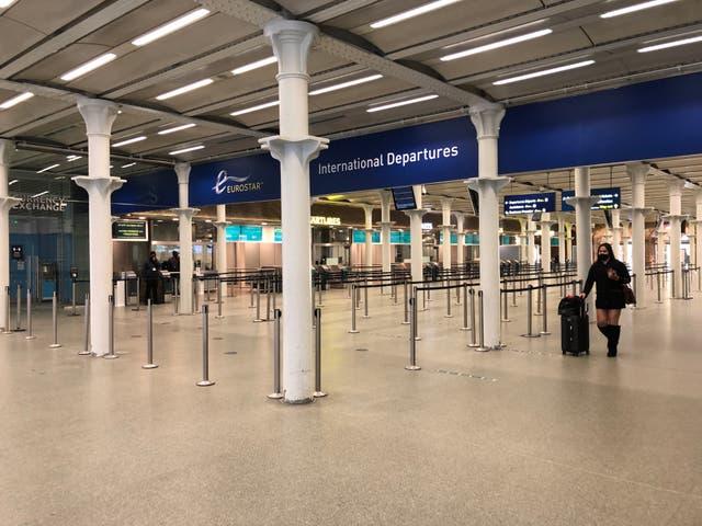 Empty quarter: Eurostar departures area at London St Pancras International