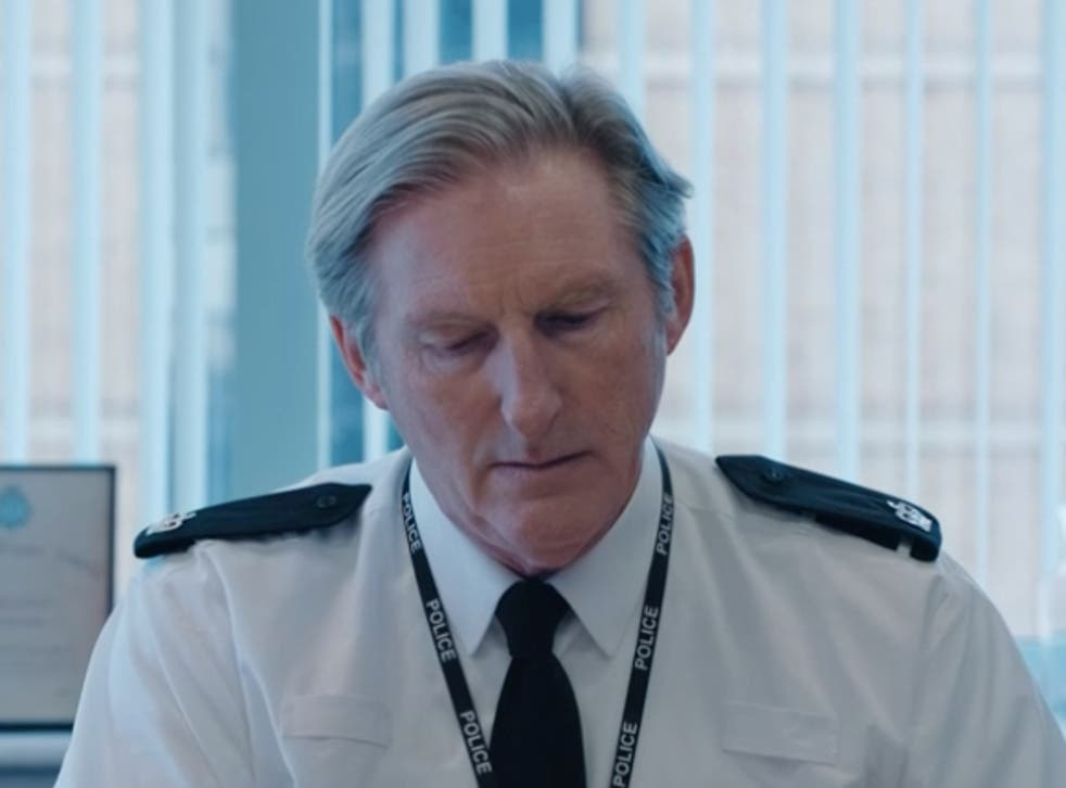 <p>Boss character: Adrian Dunbar as Superintendent Ted Hastings in Line of Duty</p>
