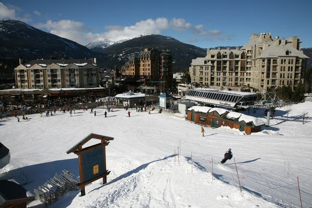 <p>A general view of Whistler Village in Whister, British Columbia, Canada. </p>