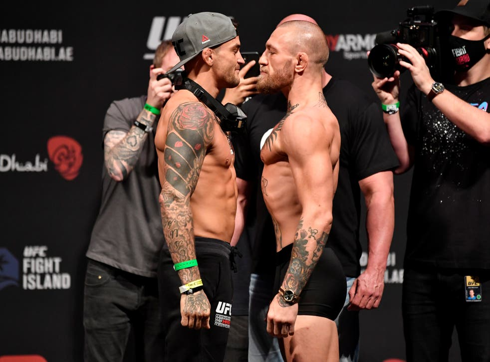 <p>Dustin Poirier and Conor McGregor were meant to face off in July</p>