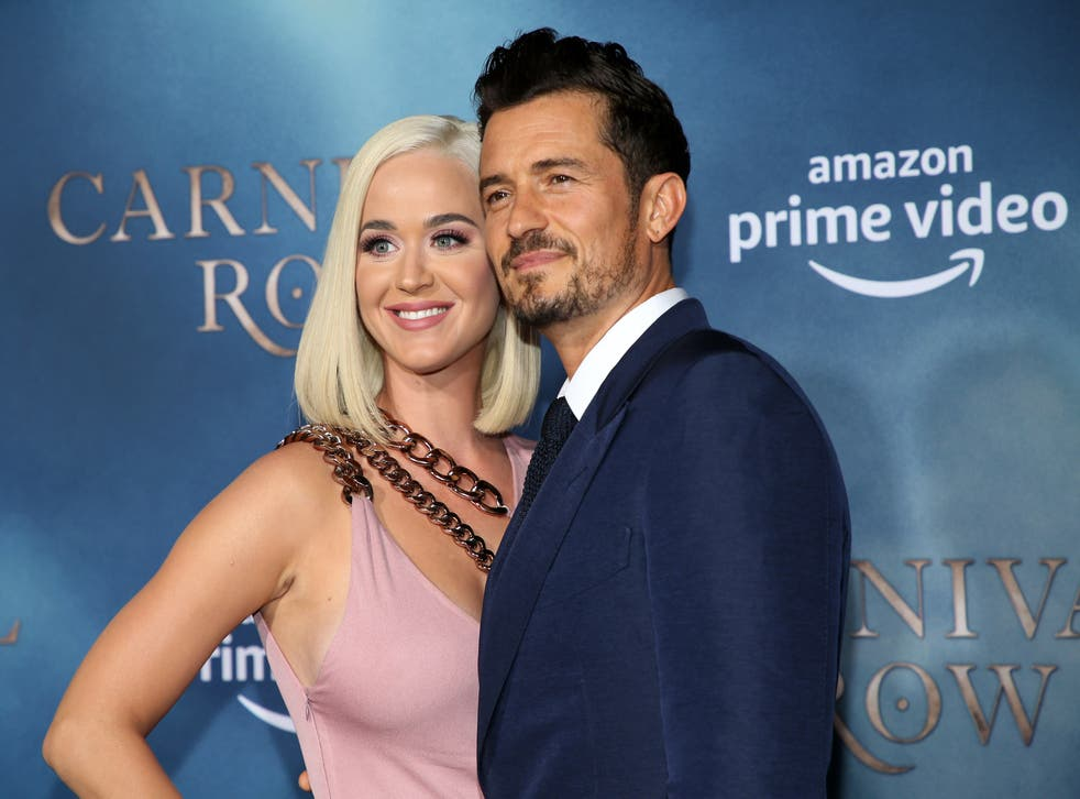 <p>Katy Perry and Orlando Bloom</p>