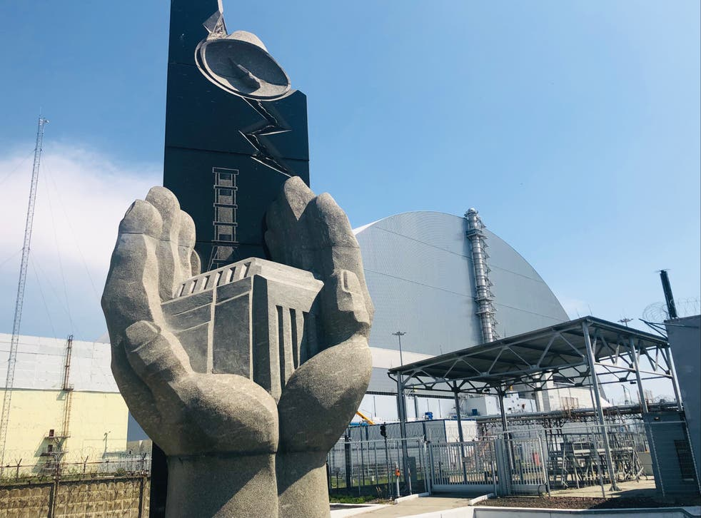 Danger zone? The 'new safe confinement' over the reactor at Chernobyl