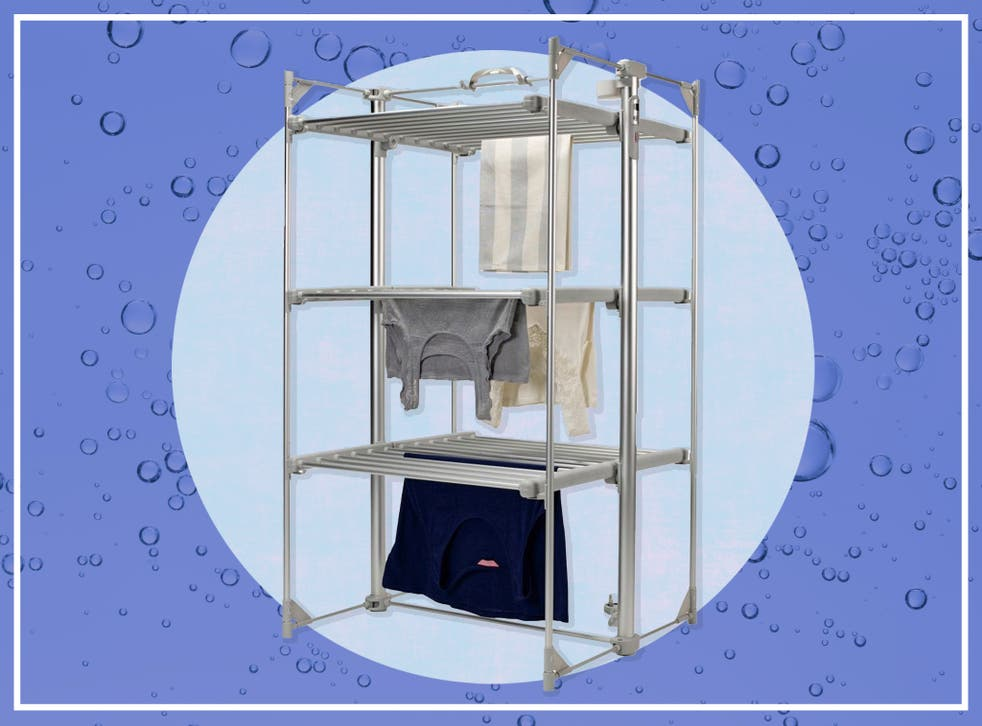 <p>This drying rack claims to hold 15kg of wet washing</p>
