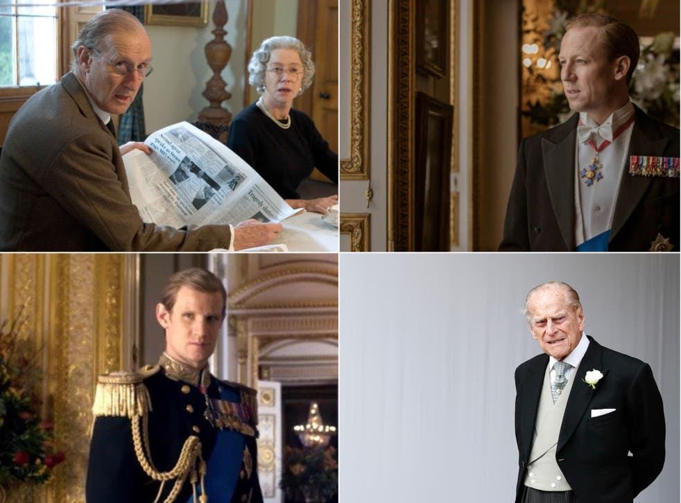 <p>Clockwise from top left: James Cromwell, Tobias Menzies, Prince Philip and Matt Smith</p>