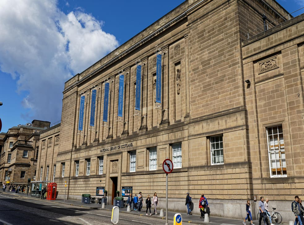 The National Library of Scotland in Edinburgh