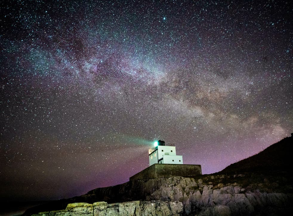 The core of the Milky Way becomes visible in the early hours of Tuesday morning